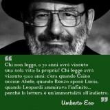 Lutto nel mondo della cultura, Umberto Eco scompare ad 84 anni