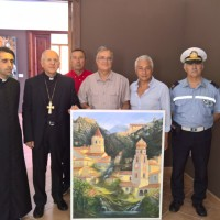 L'artista Paolo Amoroso ha donato una tela all'istituzione culturale 'Palazzo Marangoni'