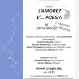 Palazzo Marangoni esalta la poesia e la musica con Demy Mango